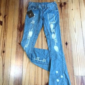 NWT True Religion Joey Super Distressed Jeans 24